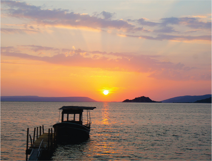 bafa lake sunset